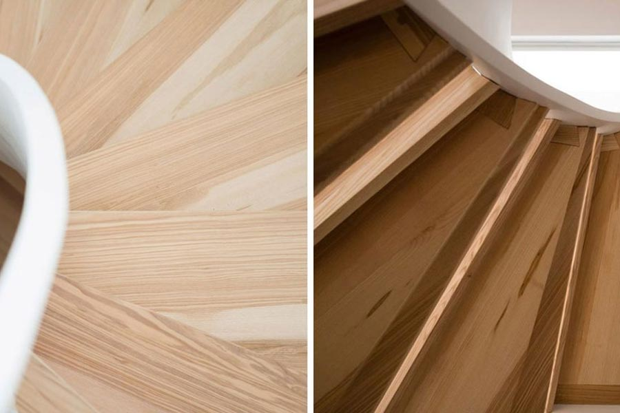 aerial view ash stair treads and undersite