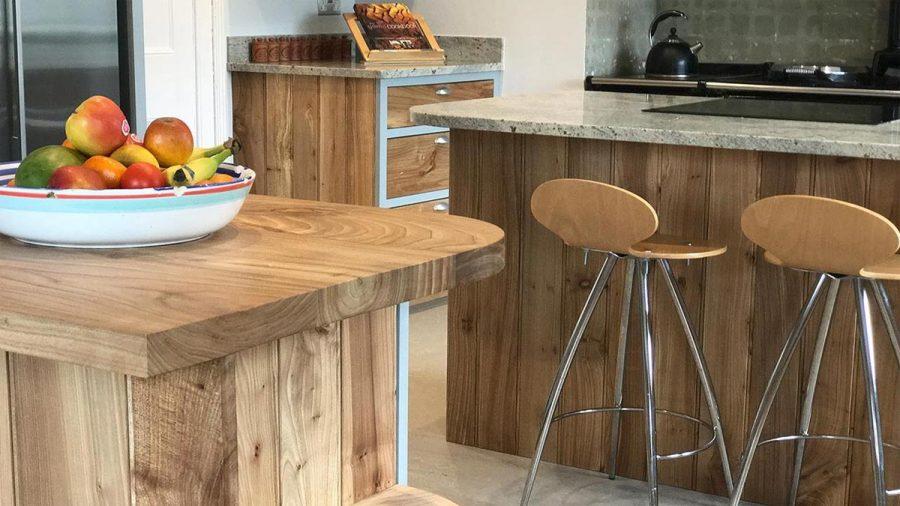 Bespoke Elm Kitchen & Engineered Flooring