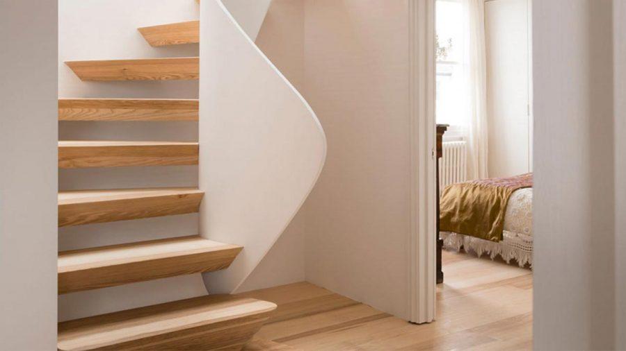 Bespoke Sculptural Ash Staircase