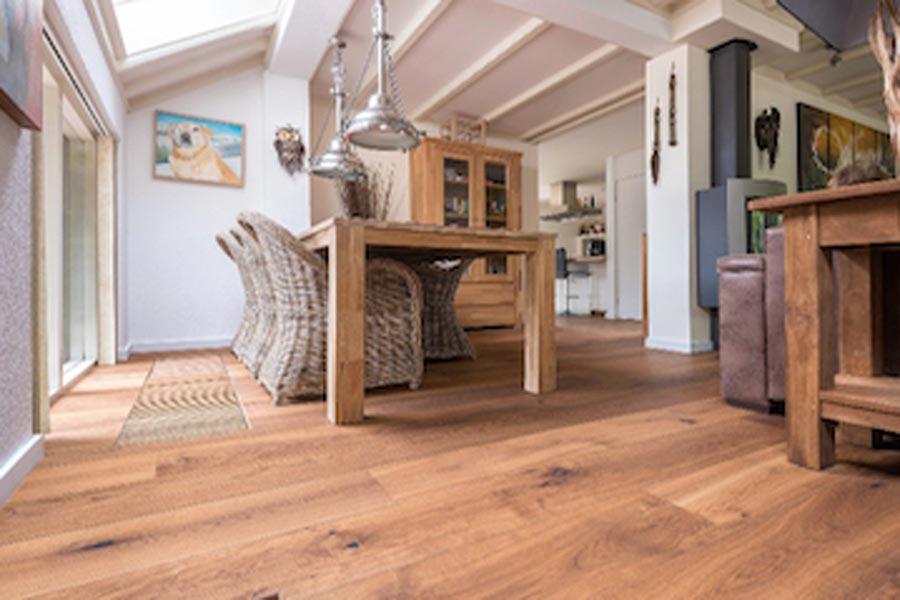 Engineered oak flooring in home