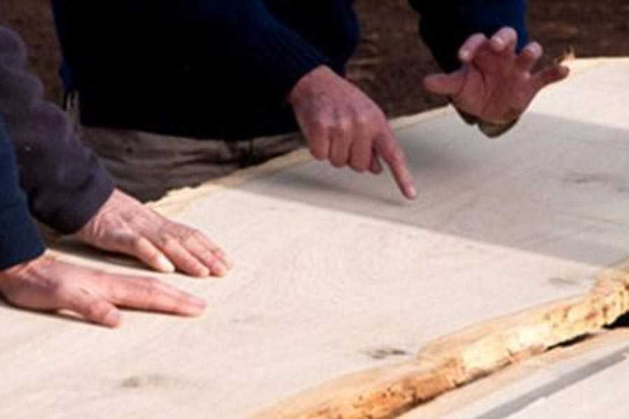 measuring solid timber boards