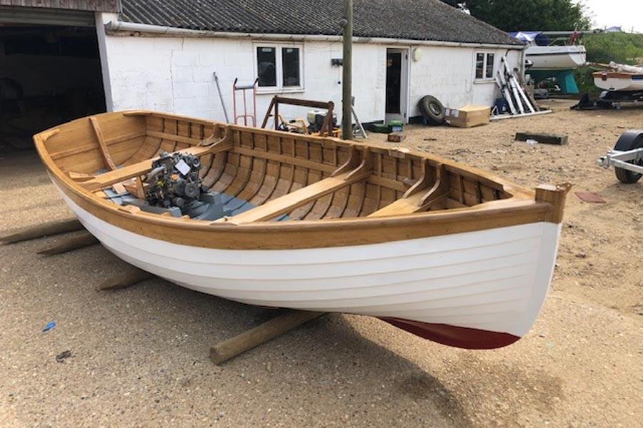 Oak clinker boat