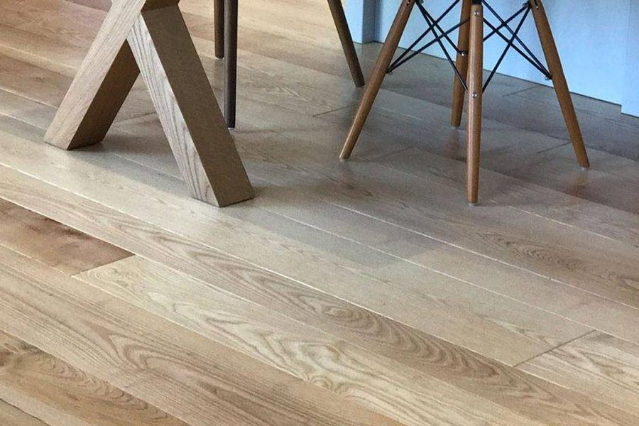 table legs on solid ash floor